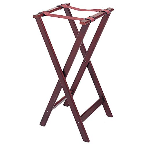 Update TSW-32 32'' Folding Tray Stand - Cherry Wood Finish