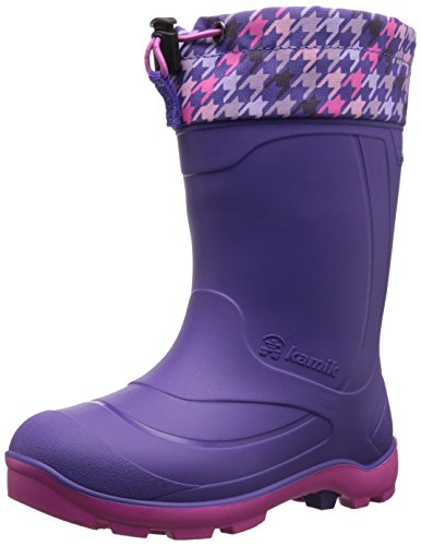 Kamik Snobuster2 Snow Boot (Toddler/Little Kid/Big Kid), Purple/Lilac, 3 M US Little Kid (Purple Boots Snow)