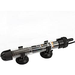 50 Watts (Tank Size: 10 to 16 Gallon) Adjustable Aquarium Heater Anti-explosion Submersible Fish Tank Water/ Temperature Range 18~33'c (65°f and 93°f.)