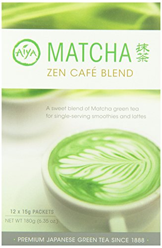 Aiya Matcha Zen Cafe blend stick packs 12ct (1 box) by AIYA SINCE 1888
