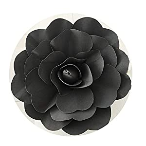 DraFenn Large Foam Fake Flowers Artificial Roses Wedding Flower Wall Wedding Window Background Layout,Black,30 cm 80