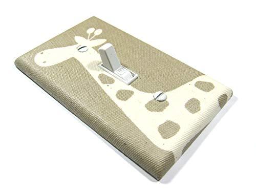 Light Brown Giraffe Light Switch Cover