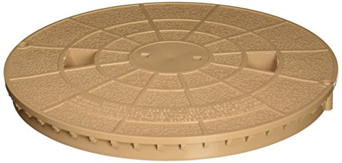 Pentair 516216 Tan Deck Lid Replacement Bermuda Gunite and Vinyl Liner - Pool Skimmer Cover Lid