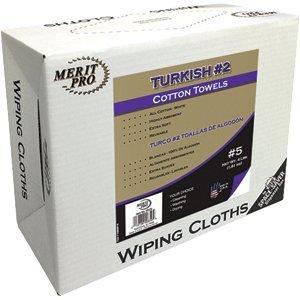 MERIT PRO 207823 50425 #5 4 lb Box White #2 Turkish Towel