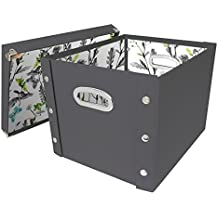 Snap-N-Store Storage Box with Lid, Assembled - 14.8 H x 11 W x 13 L Inches, Cool Gray (SNS03336)