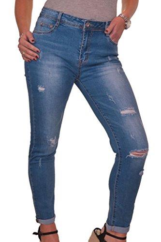 42 Stretch Blu 1548 Strappati Denim 1 Jeans 52 Ice pxzwUSqq