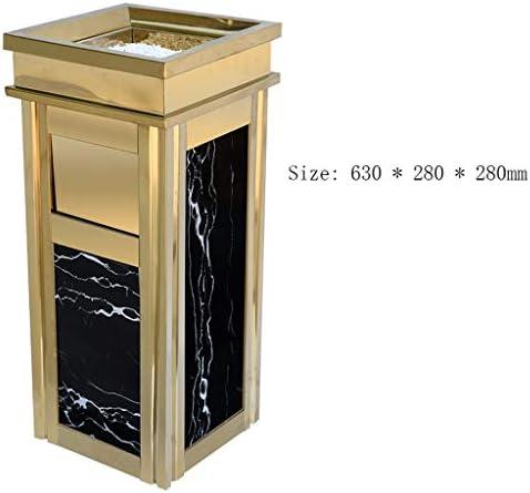 キッチンゴミ箱 屋外のゴミ箱屋内/屋外ゴミ箱はルームステンレス鋼の灰柱商業ゴミ箱缶喫煙できます ごみ収集 (サイズ : Side opening)