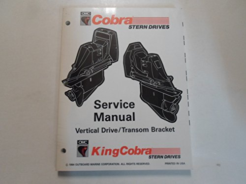 (1995 OMC Cobra Stern Drives Vertical Drive Transom Bracket Service Shop Manual)