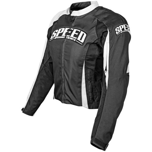 Speed and Strength Top Dead Center Women's Textile On Road Motorcycle Jacket - Black / Large