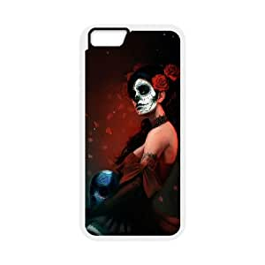 """C-Y-F- Day of the dead girls Phone Case For iPhone 6 Plus (5.5"""") [Pattern-2]"""