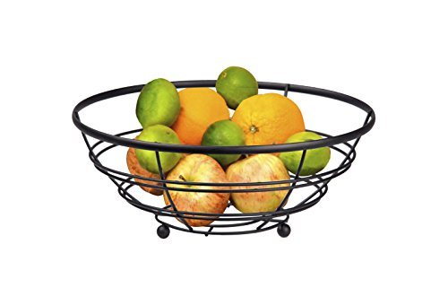 Home Basics FB01995 Fruit Basket, Black
