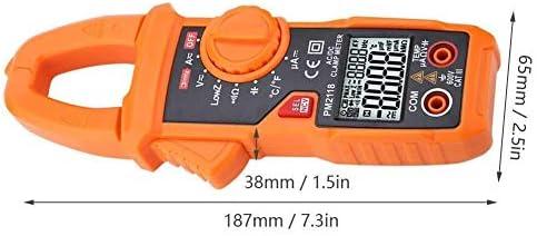 LIZANAN Digital Digital Clamp Meter Multimeter,PEAKMETER PM2118 Dual Display AC DC Clamp Multiemeter NCV Ohmmeter Capacitance Temp Tester Multimeter
