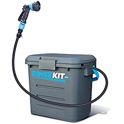Rinse Kit Portable Shower with Hot Water Sink Adapter (Plus Gray)