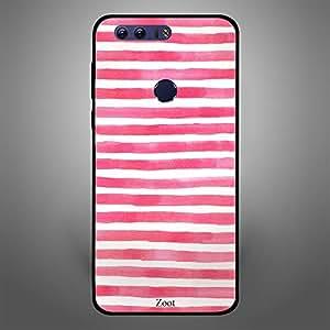 Huawei Honor 8 Pink White stripes