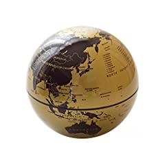 Are you bored of normal globe?  Embedded with a turntable, the globe rotates just like a real Earth does. The turntable can barely be seen because of the hidden design.  The map printed on the globe is so clear that you can actually read it a...