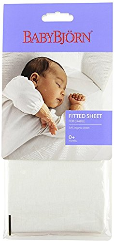 Organic Cradle Sheets - BABYBJORN Fitted Sheet for Cradle - Organic White