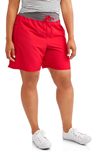 Terra & Sky Womens Active Shorts - Red Rover - Size 1X (16W-18W)