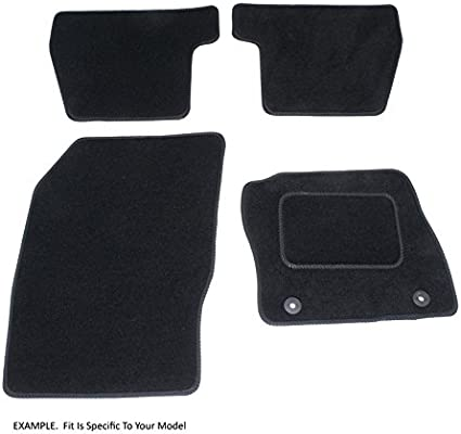 Car Mat Set 2003-2009 Connected Essentials CEM650 Charade Grey with Red Trim Premium
