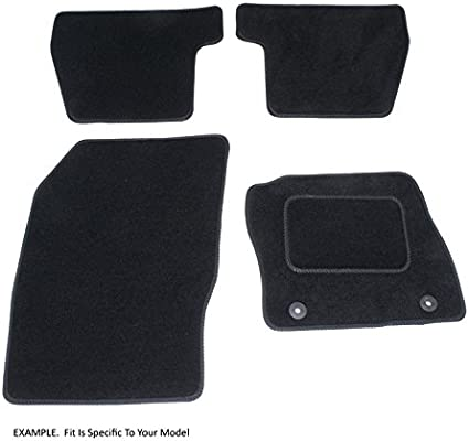 Black with Black Trim Prestige Connected Essentials CEM750 Car Mat Set