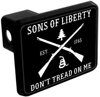 Elektroplate Dont Tread on Me Flag Black Metal Hitch Cover