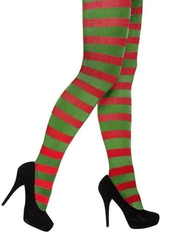 Glossy Look Women's Tights Elf Jester Pixie Fancy Dress Accessory