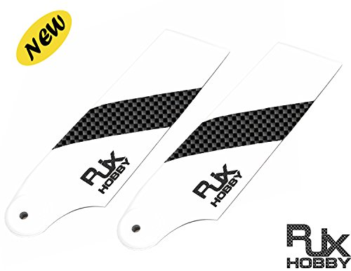 RJX Carbon Fiber 62mm Tail Rotor Blades for 450 RC ()