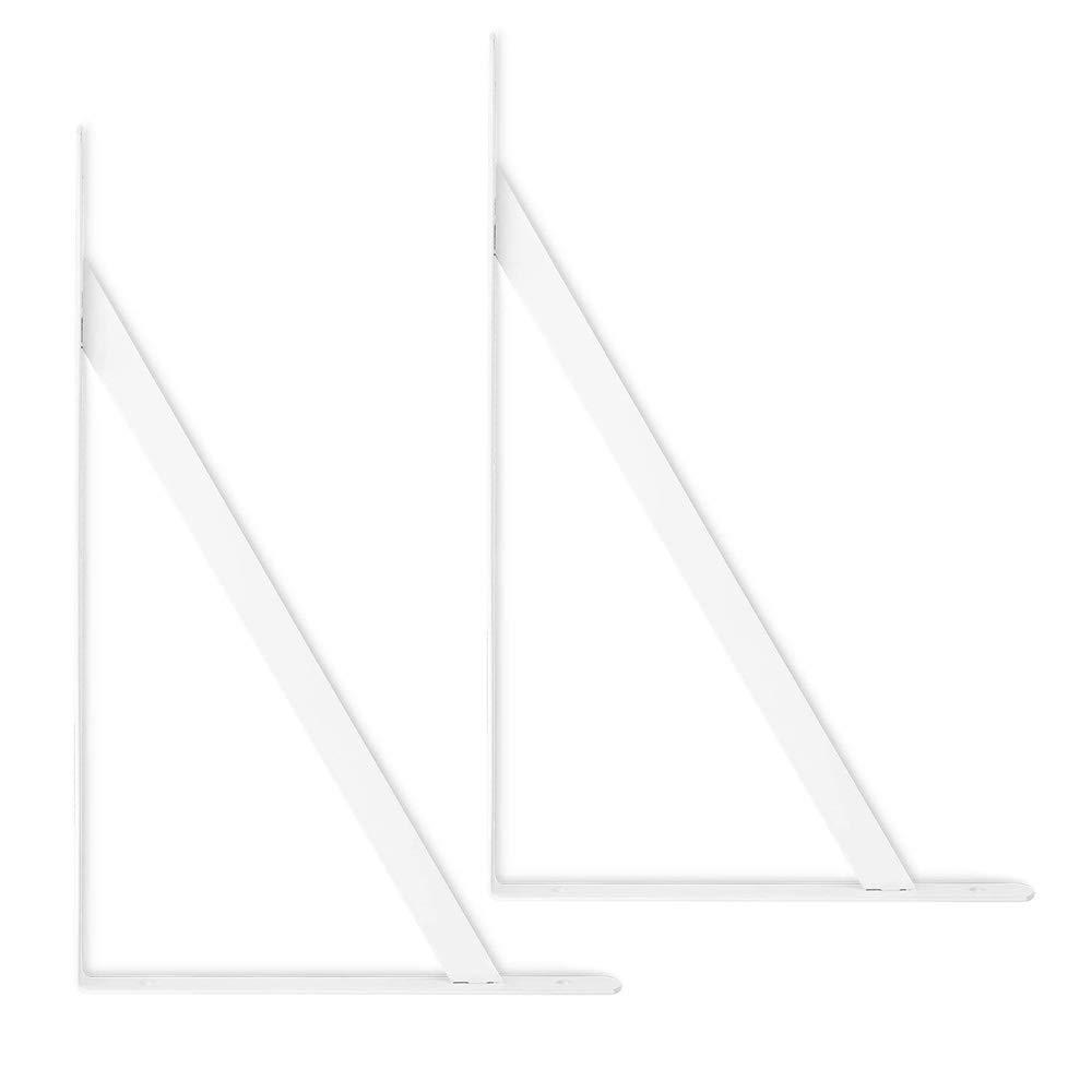 Heavy Duty Shelf Bracket White 6-Pack ORIGA 7.9 x 4.7 Inch Shelf L Brackets 90 Degree Shelf Support Corner Brace Joint Right Angle Brackets with 30pcs Screw and 16pcs Anchors