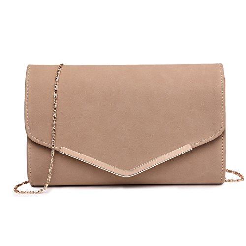 Beige Clutches Party Women 1756 Cluth Bag Evening Miss Pu Envelope Wedding Purse Light Bags Golden Lulu Metal Chain SnTUq4E