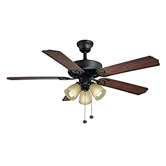 Hampton Bay Brookhurst 52 Quot Ceiling Fan 549742 Oil Rubbed