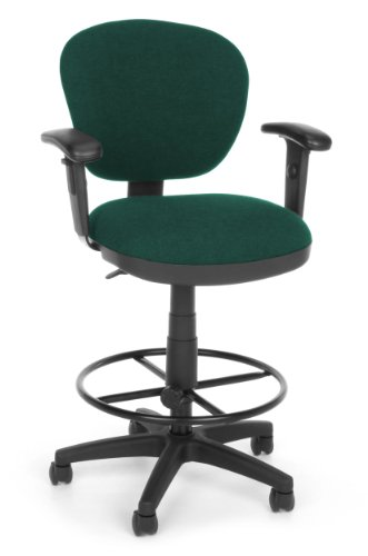 OFM 150-AA-DK-120 Lite Use Computer Task Stool with Arms and Drafting Kit (Lite Chair Use Drafting)