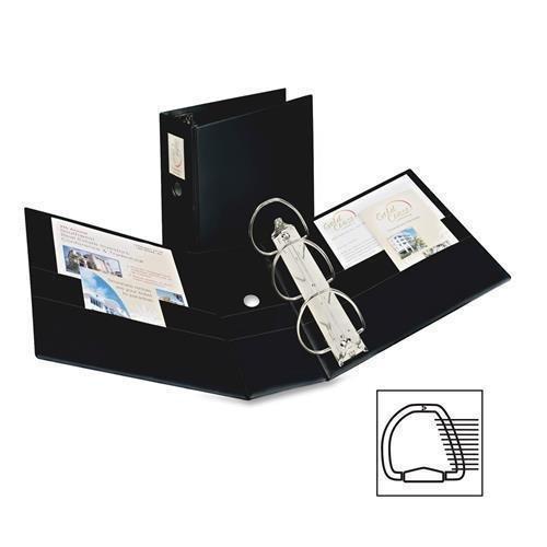 SR11-50L-BK Avery Durable Slant Reference Binder With Label Holder - 5'' Binder Capacity - Letter - 8.50'' Width x 11'' Length Sheet Size - 950 Sheet Capacity - 3 x D-Ring Fastener - 4 Pockets - Vinyl - Black - 1 Each