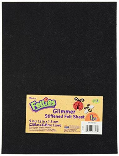Darice FLT 0532 Glimmer Sheet Black