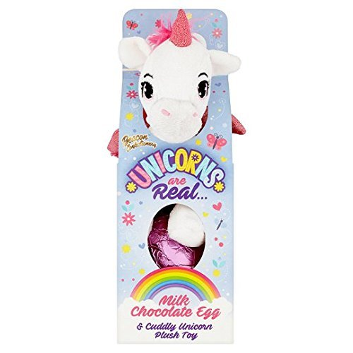 Unicorn's Are Real Easter Egg (Milk Chocolate Egg & Cuddly Unicorn Plush Toy) by Beacon Confectionary