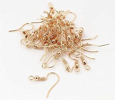 Color: Black Laliva 100pcs//lot 20x17mm DIY Earring Findings Earrings Clasps Hooks Fittings DIY Jewelry Making Accessories Iron Hook Earwire Jewelry