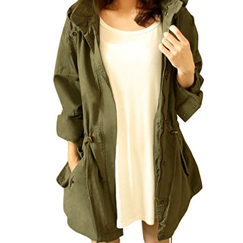 Olive green womens field jacket