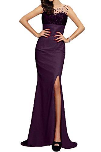 Mermaid Damen Schlitz ressing abito partito Modern Dress vestito Prom Paillette uva Fest ivyd del Uq4t51U