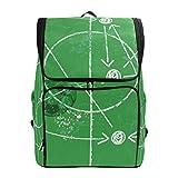 ADONINELP Soccer Illustration W Tactics Drawing Balls School Bookbag Large