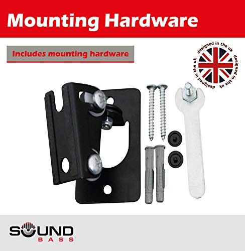 2 x SONOS Play 1 Wall Mount, Twin Pack, (NOT Compatible with SONOS ONE) Adjustable Swivel & Tilt Mechanism, 2 Brackets for Play:1 Speaker with Mounting Accessories, Black by Sound Bass (Image #6)