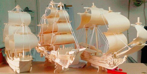 53847d8865cd Amazon.com : Free Shipping Fanny Boat Model 3D Puzzle Jigsaw Wood ...