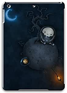 iPad Air Case Cover,Holidays Halloween Planet Astronaut Skeleton 3D Hard Shell Case for iPad Air