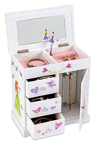 JewelKeeper Unicorn Musical Jewelry Box with 3 Pullout Drawers, Fairy Princess and Castle Design, Dance of the Sugar Plum Fairy Tune by JewelKeeper (Image #1)