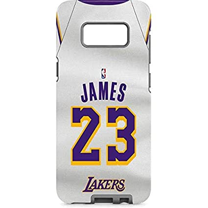 1c03a5b022d Image Unavailable. Image not available for. Color  Skinit NBA Los Angeles Lakers  Galaxy S8 Pro Case - LeBron James Lakers White Jersey Design
