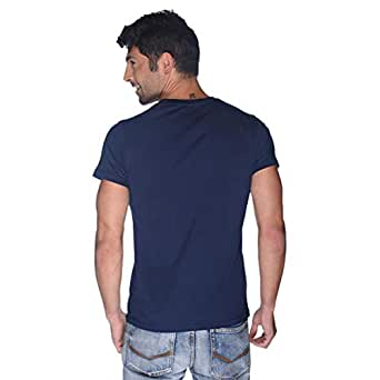 Creo Bikers Born To Ride T-Shirt For Men - L, Navy Blue