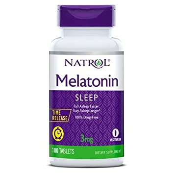 Image Unavailable. Image not available for. Color: Natrol Melatonin Time Release - 3 mg ...