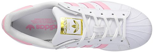 Gold Metallic Pink White Leather Womens Superstar Light Trainers Adidas Clear qUBwzx