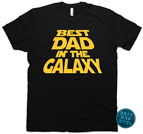 Best Dad in the Galaxy T-Shirt, Father's Day Gift & Bonus, Men's Medium (Black) (Dad Shirt)