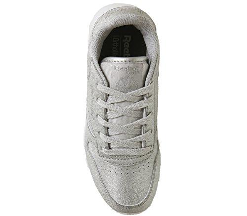 bianco grigio Syn Grey Argento snow Da Cl Scarpe Met white Silver Lthr Corsa Reebok diamond Bambina E8xqwnz