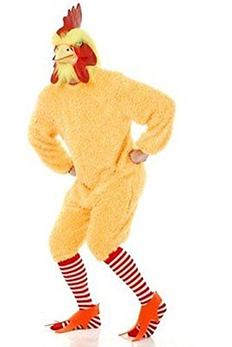 Charades Unisex-Adult's Rocking Rooster, Yellow, X-Large