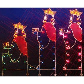 Outdoor Lighted Nativity Silhouette in US - 6