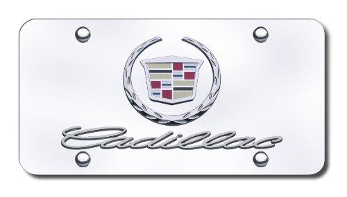 Au-Tomotive Gold, INC. Cadillac Chrome Logo and Name on Chrome License Plate